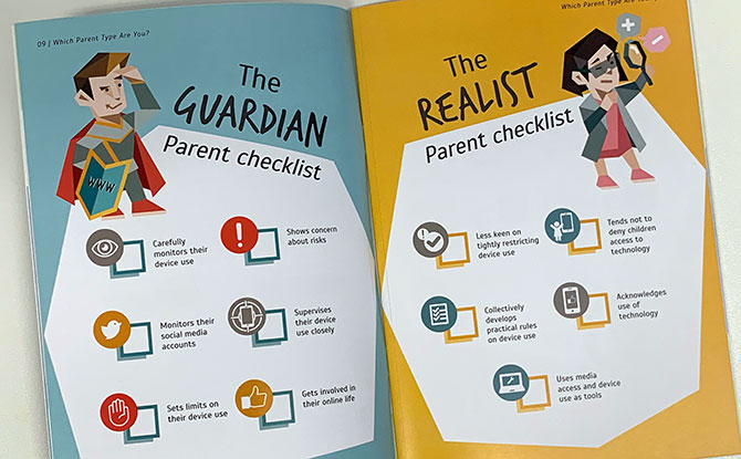 Clique Click guide by Medial Literacy Council, Singapore