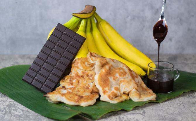 Dessert Chocolate & Banana Prata