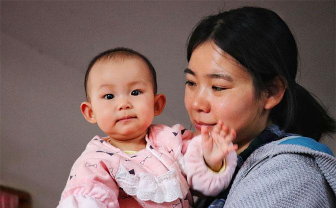 asian mum and kid
