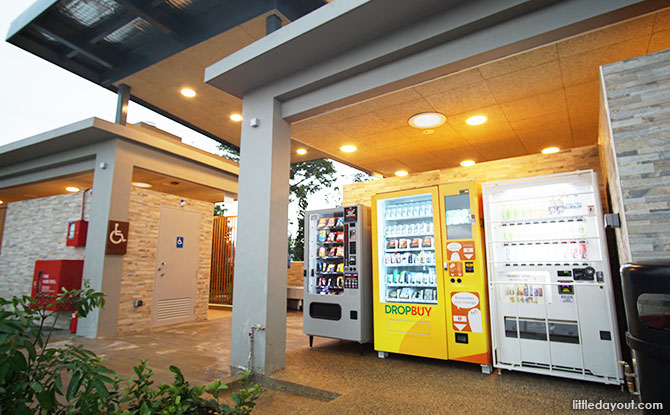 Toilets and vending machines at Rower's Bay