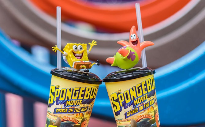Get Cute Spongebob Cup Topper At Golden Village