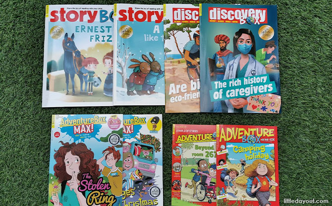 Overview of Bayard Presse's StoryBox, AdventureBox and DiscoveryBox