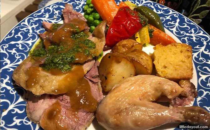 A Hearty Easter Feast With Sunday Catering: Roast Lamb, Chicken and Spring Vegetables