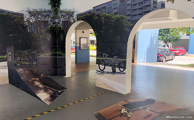 Our Tampines In A Garden Void Deck Exhibition: Fun 3D Optical Illusions In The Neighbourhood