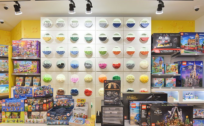 Brick Galore with the iconic Pick-A-Brick wall at LCS Tampines Mall (Courtesy of LEGO Group 2020)