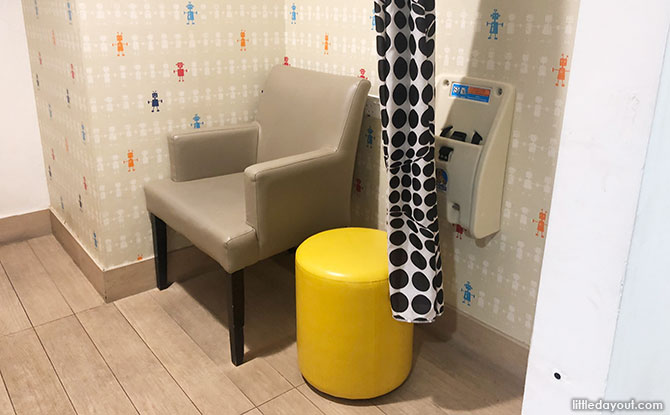 Seats at Tiong Bahru Plaza Nursing Room