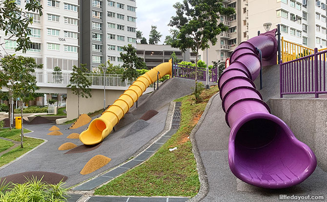 Toa Payoh Crest Playground: Fun On The Slopes