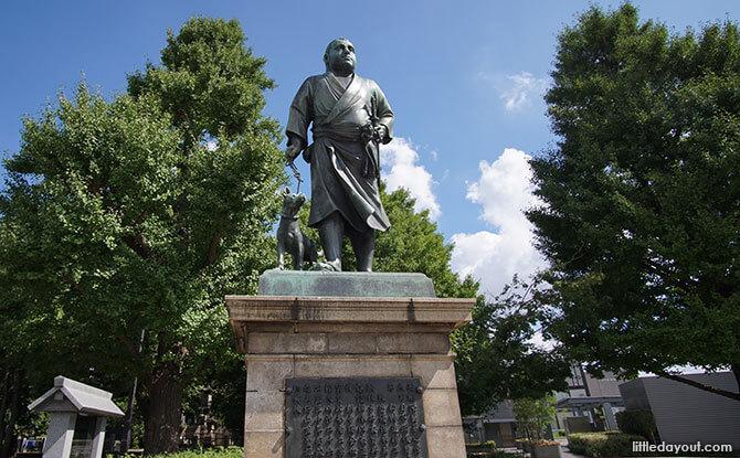 Statue of Saigo Takamori, one of the generals in the Battle of Ueno