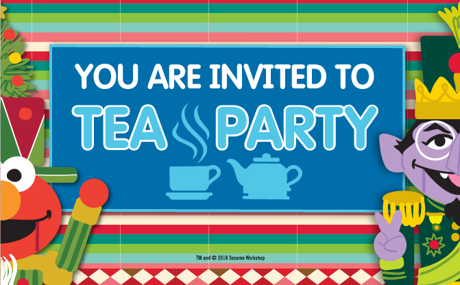 Sesame Street Tea Party