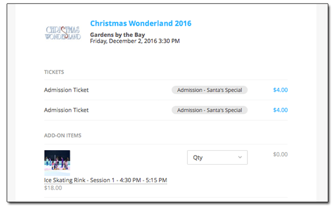 Christmas Wonderland 2016, Online Booking