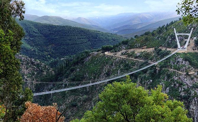 Portugal Unveils World's Longest Suspension Bridge, Arouca 516