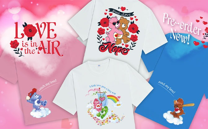 Exclusive Care Bear Apparel Valentines Day