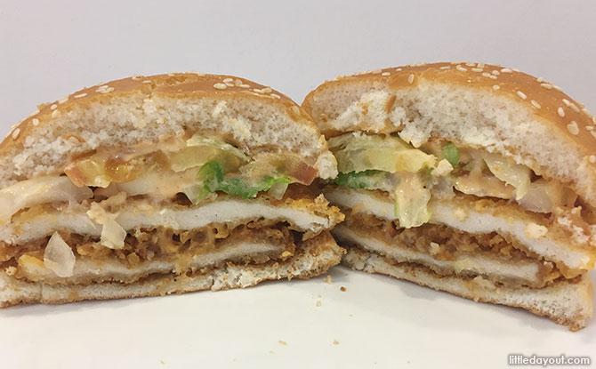 Burger King Mentaiko Double CHICK'N CRISP Burger