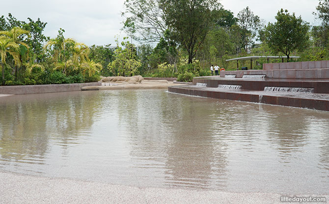 Water Play Area at Jurong Lake Gardens - Tidal Pool