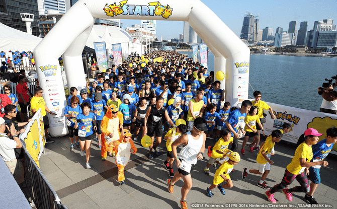 Flag-off at the Pokémon Run SG 2017