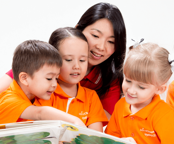 The MindChamps reading programme keeps a child engaged as he or she learns to read.