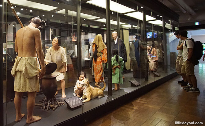 Exhibits about the Japanese people