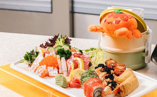 buffet spread at Carousel