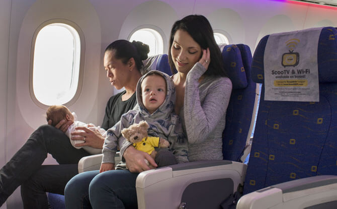 Tips for flying with infants and kids