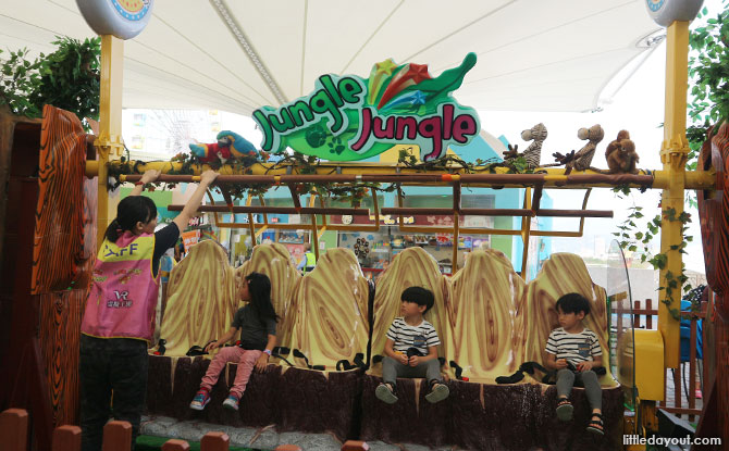 Cool amusement rides as the Taipei amusement park with kids