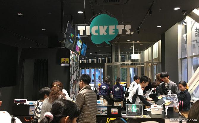 Ticketing counter at VS Park, Osaka