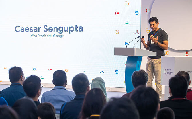 Welcome remarks by Caesar Sengupta, VP, Google Singapore
