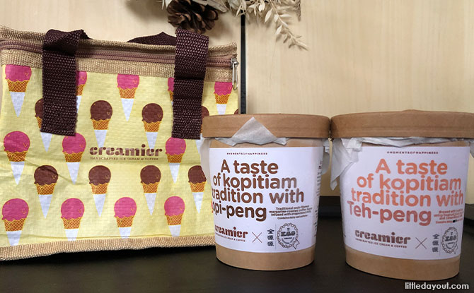 Review of Creamier's Kopi-Peng and Teh Peng Ice Cream