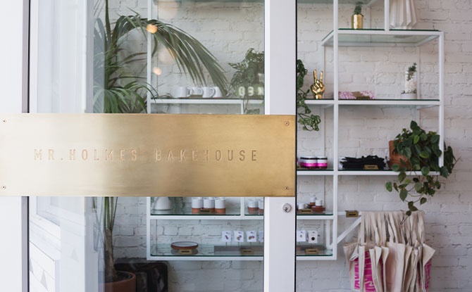 Instagrammable Store Front at Mr. Holmes Bakehouse