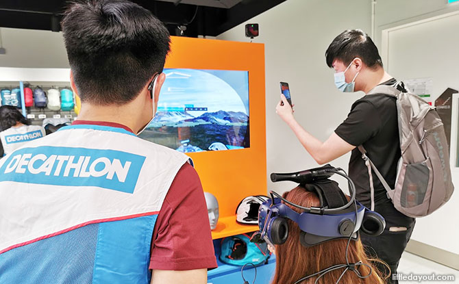 Experience the Decathlon Virtual Reality Test Zone