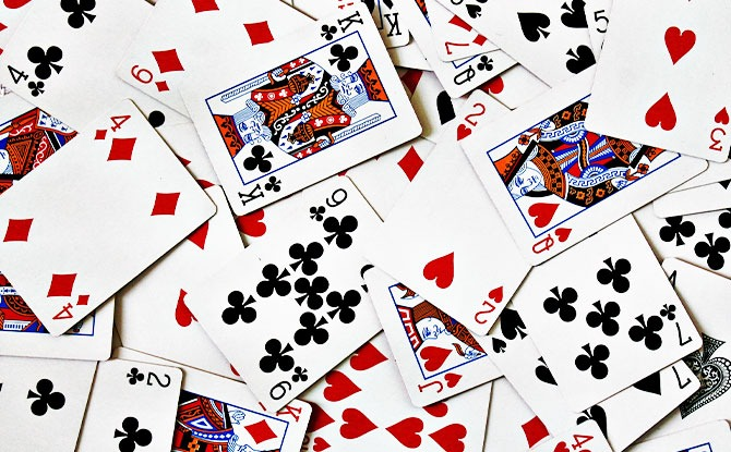 Materials needed for Deck of Cards Workout