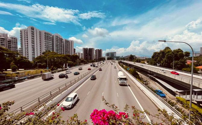 131.8km around Singapore