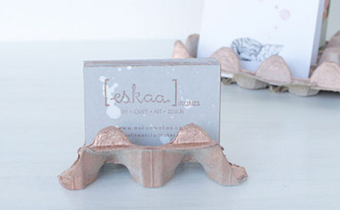 UPCYCLED BUSINESS CARD HOLDER