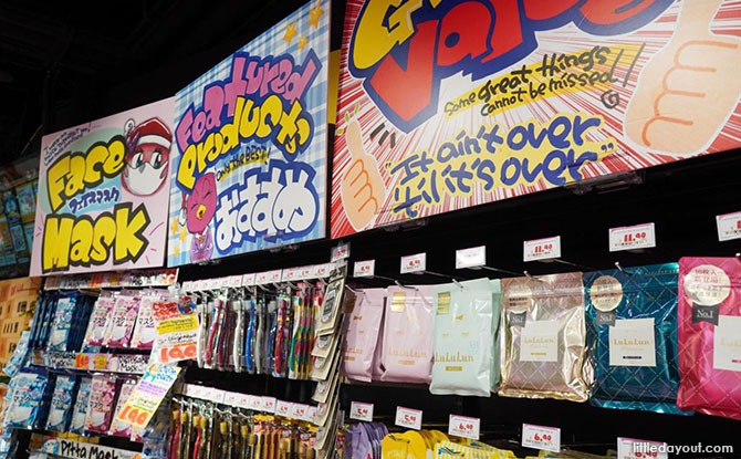 Shopping at Don Don Donki Downtown East