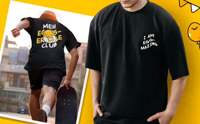 Gudetama Oversized Cotton T-shirt