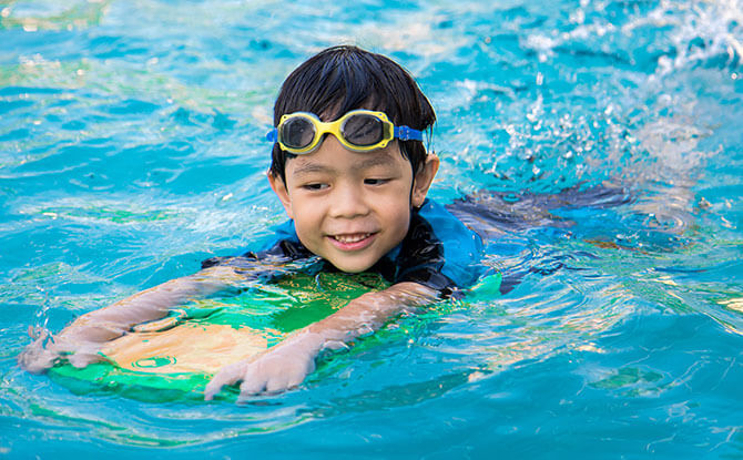 Swimming aids in Physical Development