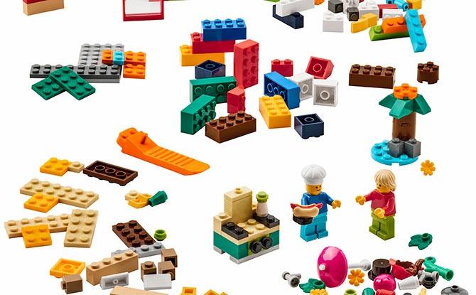 BYGGLEK 201-piece LEGO brick set