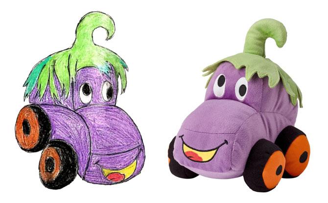 Eggplant Car