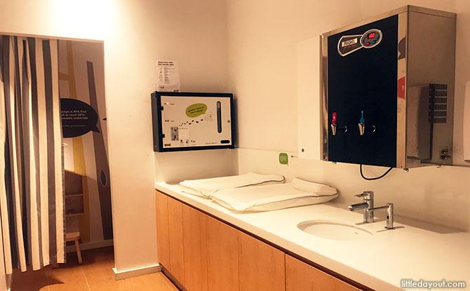 Diaper changing room, Ikea Tampines