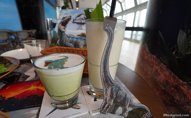 Jurassic World Café Singapore Dinosaur drinks