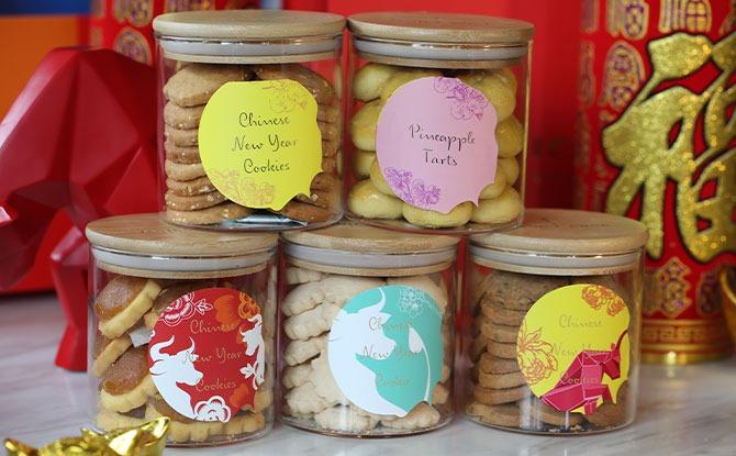 Box of 5 CNY cookie Hamper