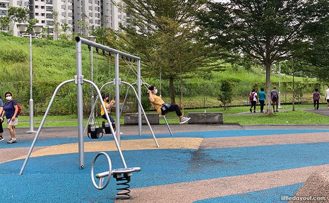 Swings at Pavilion Park Playground