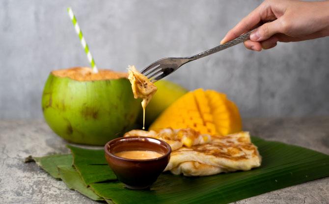 Mango & Coconut Prata