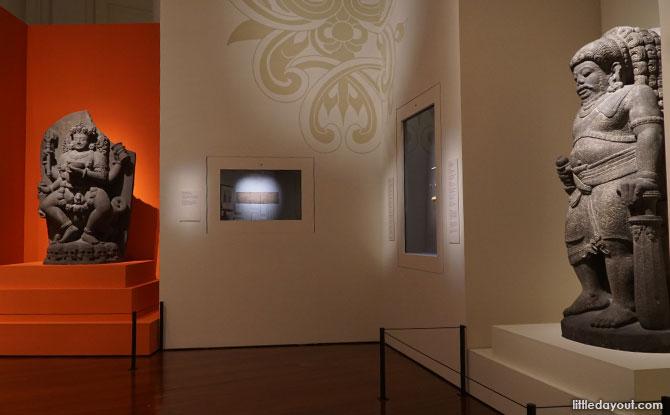 Large stone statues, Raffles Exhibition at Asian Civilisations Museum