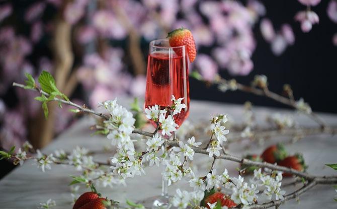 Signature Strawberry Caprese with Roku Gin