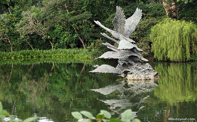 Singapore Botanic Gardens Sculptures - Flight of Swans