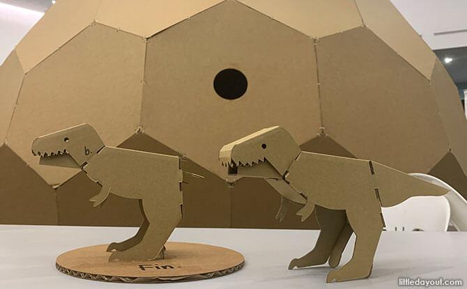Make A Cardboard Dinosaur