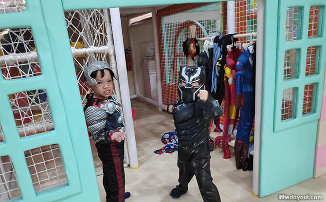 Dress up and be a Superhero or a Princess and Play Pretend at SMIGY Indoor Playground