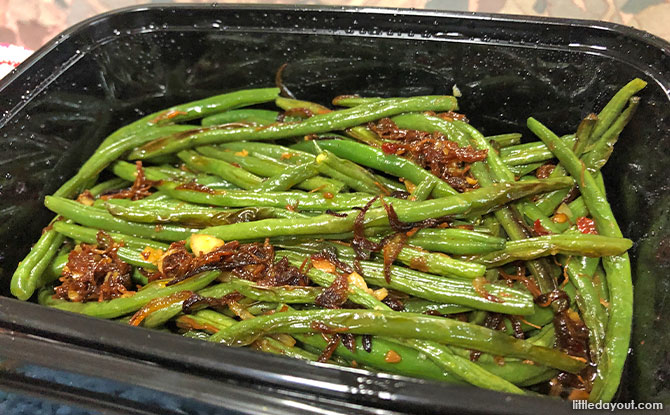 Roasted Fine Beans with XO Sauce