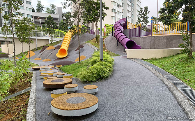 Slides at the Toa Payoh Crest Playground