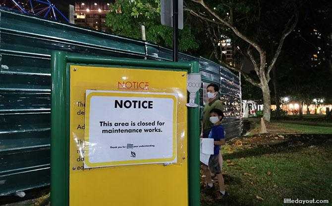 West Coast Park's Pyramid Closed
